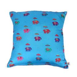 The Elephant Company Turquoise Printed Cushion Covers, blue