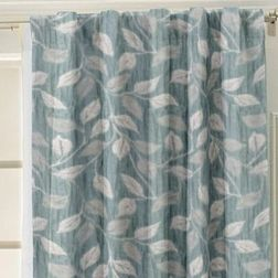 Ramkhao Geometric Readymade Curtain - 31, blue, window