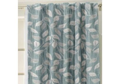 Ramkhao Geometric Readymade Curtain - 31, blue, window