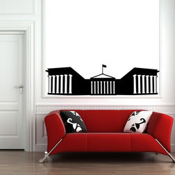 Kakshyaachitra Parthenon Wall Stickers For Bedroom And Living Room, 48 14 inches