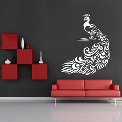 Kakshyaachitra Pretty Peacock Wall Stickers For Kids Room, 48 60 inches