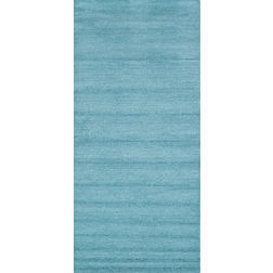 Floor Carpet and Rugs Hand Tufted AC Concept SolidBlue Carpets Online - RN-76-L, 3ftx5ft, blue