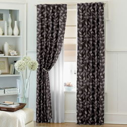 Ramkhao Floral Readymade Curtain - 55, door, purple