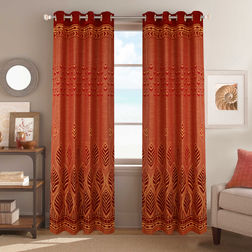 Dreamscape Poly Cotton Floral, door, maroon
