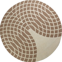 Floor Carpet and Rugs Hand Tufted, AC Concept AbstractBrown Carpets Online - RNDC-18-L, brown, 3ftx5ft