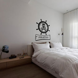 Kakshyaachitra Pirates Wheel Wall Stickers For Bedroom And Living Room, 20 24 inches