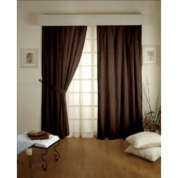 Lusture Stripes Readymade Curtain - 108, window, brown