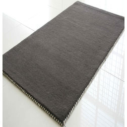 Floor Carpet and Rugs Hand Tufted, AC Concept Solid Grey Carpets Online -B1-24-L, 3ftx5ft, grey