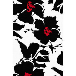Floor Carpet and Rugs Hand Tufted, AC Concept Floral Black Carpets Online - ACR 52-L, black, 3ftx5ft