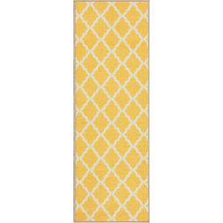 Floor Carpet and Rugs Hand Tufted AC Concept EthnicYellow Carpets Online - RN-11-L, 3ftx5ft, yellow