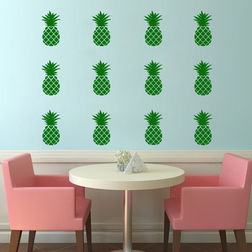 Kakshyaachitra Pineapple Wall Stickers For Bedroom And Living Room, 48 67 inches