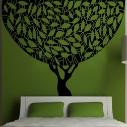 Kakshyaachitra Round Tree Wall Stickers For Bedroom And Living Room, 62 48 inches