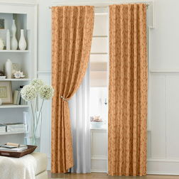 Constellation Floral Readymade Curtain - CSZI104, door, brown
