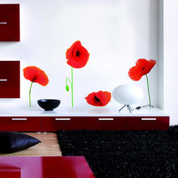Wall Stickers Home Decor Line Poppies - 43002
