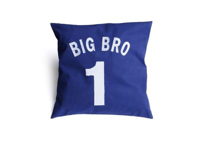 Big Bro Cushion Cover MYC-77, pack of 1, blue