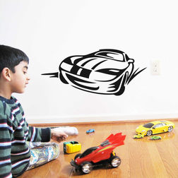 Kakshyaachitra Beautiful Car Wall Stickers For Kids Room, 48 21 inches