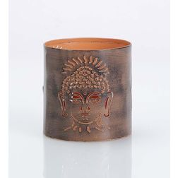 Aasra Decor Budha Candle Votive DecorVotives, orange