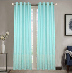 Dreamscape Poly Cotton Geometric, lt blue, door