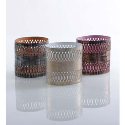 Aasra Decor Circular Pattern Candle Votive DecorVotives, multicolour
