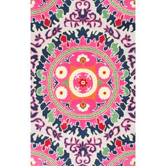 Floor Carpet and Rugs Hand Tufted, The Rug Concept Pink Carpets Online Tbilisi 6004-S, pink, 3ft x 5ft