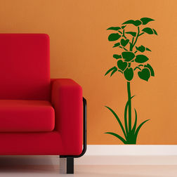 Wall Stickers Chipakk Plant Green