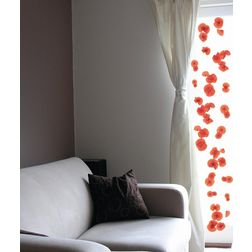 Wall Decals Home Decor Line Poppies - 72102