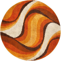 Floor Carpet and Rugs Hand Tufted, AC Concept AbstractBrown Carpets Online - RNDC-29-L, 3ftx5ft, brown