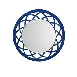 Aasra Decor Anise Mirror Decor Wall Mirror, blue