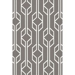 Floor Carpet and Rugs Hand Tufted, AC Concept Geometric Grey Carpets Online - ACR (22) -L, 3ftx5ft, grey