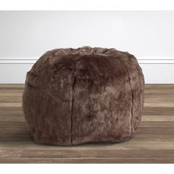 FUR BEAN BAG(WITHOUT BEANS) -BB-52, brown