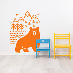 Kakshyaachitra Bear Wall Stickers Kids Wall Stickers, 48 65 inches