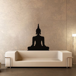 Kakshyaachitra Buddha in Meditation Wall Stickers For Bedroom And Living Room, 20 24 inches