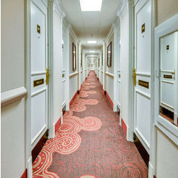 Floor Carpet and Rugs Hand Tufted AC Concept Floral Orange Carpets Online - CRD-47-L, 3ftx5ft, orange