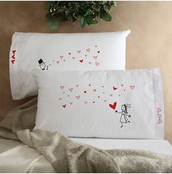 Boy Girl Pillow Cover MYC-96, pack of 2, white