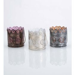 Aasra Decor Arc Reactor Bucket Candle Votive DecorVotives, multicolour