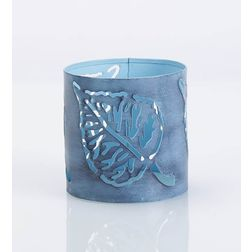 Aasra Decor Peepal Leaf Candle Votive DecorVotives, blue