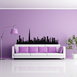 Kakshyaachitra Burj Khalifa Skyline Wall Stickers For Bedroom And Living Room, 48 19 inches