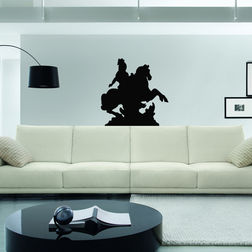 Kakshyaachitra Warrior Wall Stickers For Bedroom And Living Room, 24 24 inches