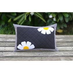 Flower Print Cushion Cover MYC-22, pack of 1, black