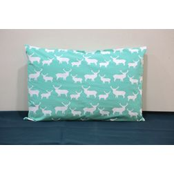 Deer Print Pillow Cover MYC-38, pack of 1, green