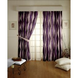 Astro Abstract Readymade Curtain - 8, window, purple