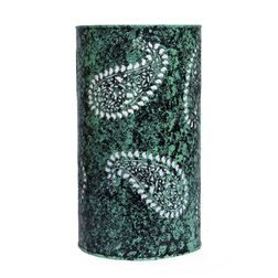 Aasra Decor Green Butti Lamp Lighting Table Lamp, green
