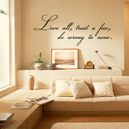 Kakshyaachitra Love All Wall Stickers For Bedroom And Living Room, 24 10 inches