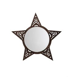 Aasra Decor Star Mirror Decor Wall Mirror, brown