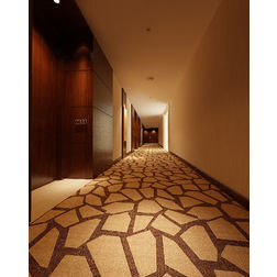 Floor Carpet and Rugs Hand Tufted AC Concept Geometric Brown Carpets Online - CRD-87-L, brown, 3ftx5ft