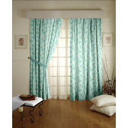 Constellation Floral Readymade Curtain - ZI108, long door, blue