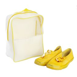 Gym (Travel) Shoe Bag,  yellow & white