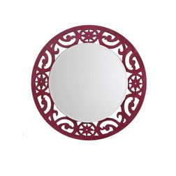 Aasra Decor Eclectic Mirror Decor Wall Mirror, pink