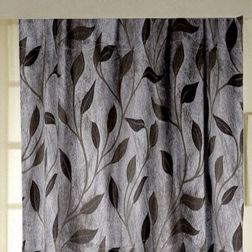 Roseberry Floral Readymade Curtain - 21, window, grey