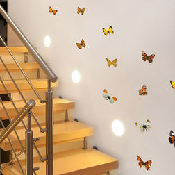 Wall Sticker For Kids Home Decor Line Colourful Butterflies - 54453
